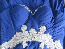 STUNNING ROYAL BLUE PROM/BRIDESMAID/SPECIAL OCCASION PARTY DRESS