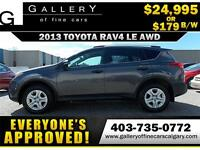 2013 Toyota RAV4 LE AWD $179 Bi-Weekly APPLY NOW DRIVE NOW
