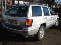 Jeep GRAND CHEROKEE 2.7 CRD Limited 4x4 5dr, 2004 model, Comes with Full MOT, FSH