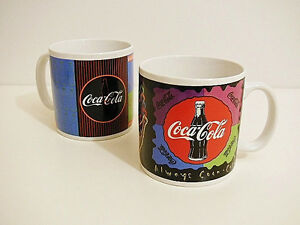 1995 Coca-Cola Collector's Ceramic Mug Set