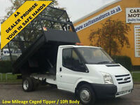 2011/ 61 Ford Transit T350m S/Cab Tipper Full Caged Body Low Mileage DRW