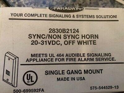 Faraday Model 2830b2124 White Mini-horn Surface Mount 10 Avail. Free Shipn