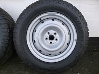 "SUBARU FORESTER 2011- 4 X 16""STEEL WHEELS WITH WINTER TYRES"