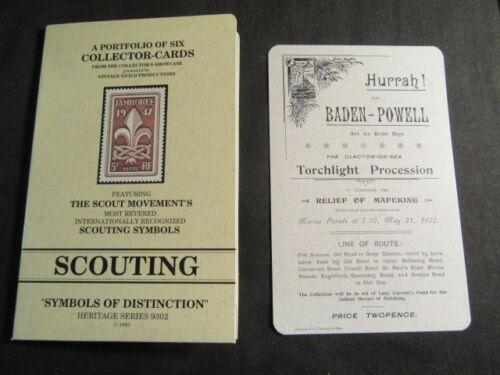 Boy Scout Postcards, 6 Collector Cards, Vintage Guild Productions 1993,  c48