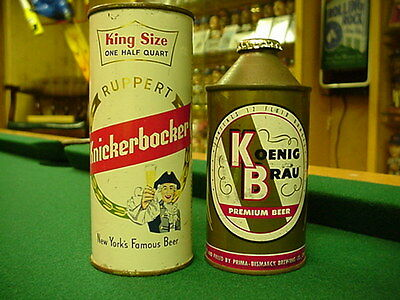 Knickerbocker Beer Flat Top Beer Can  Rare