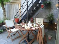Summer is coming: outdoor dining / set de patio