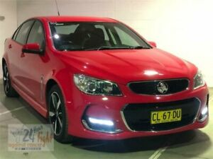 2017 Holden Commodore VF II MY17 SV6 Red Sports Automatic Sedan Campbelltown Campbelltown Area Preview
