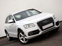 Audi Q5 2.0 TDI 177 Quattro S-Line Steptronic, Diesel, Gorgeous in IBIS White, Full Milano Leather