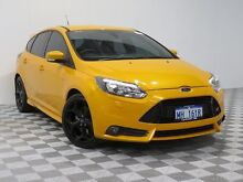 2013 Ford Focus LW MK2 ST Yellow 6 Speed Manual Hatchback Atwell Cockburn Area Preview