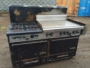 Garland 4 Burner Gas Stove, Flat Top, 2 Gas Ovens for sale