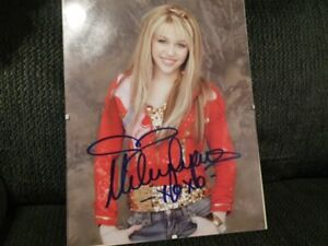 Miley Cyrus Hand Signed Autograph With Proof!!