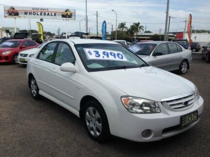 2004 Kia Cerato LD White 4 Speed Automatic Sedan
