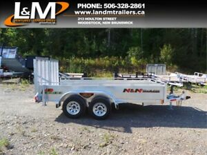 "NEW 2018 N&N GALVANIZED 72""X147"" TANDEM AXLE UTILITY TRAILER"