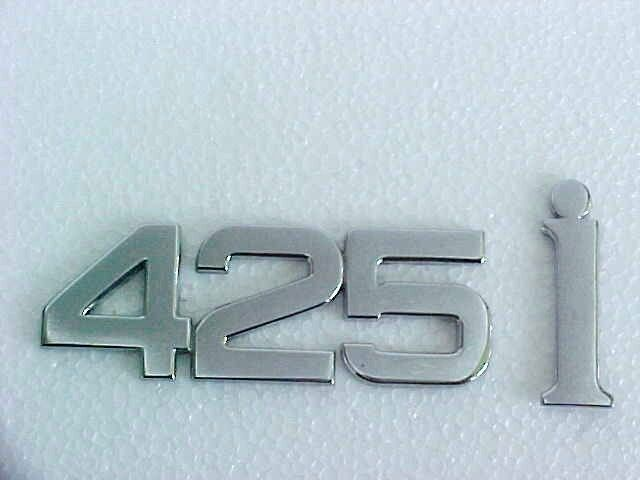 maserati biturbo 425i emblem trunk lid nameplate chrome. Black Bedroom Furniture Sets. Home Design Ideas