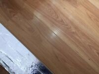 Oak effect wooden laminate flooring