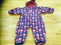 Jojo Maman Bebe all in one waterproof suit - 6-9 months