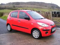 2009 HYUNDIA i10 1.2 CLASSIC 5DR MOT AUG 2018 6 MONTHS WARRANTY £30/YEAR ROAD TAX
