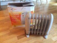 Mini radiator warm heater 800w with plugs