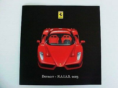 Ferrari Enzo Press Kit Media Sales Brochure Pamphlet_Detroit Auto Show_Disc OEM