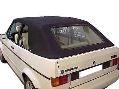 Rabbit Cabriolet (VW RABBIT CABRIOLET 80-94 CONVERTIBLE TOP BLACK  STAYFAST CLOTH ..NOT)