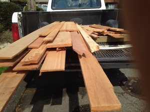 Western Red Cedar Boards Planed and Unplaned