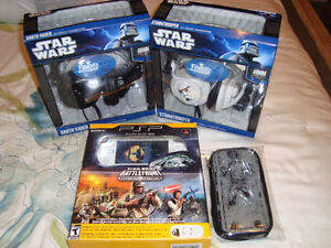 PSP 2001 STAR WARS LIMITED EDITION + HEADPHONES + CASE LIKE NEW