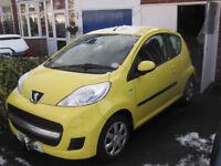 Peugeot 107 urban 2011 3door excellent condition under11000miles mot till july2018 £20 roadtax