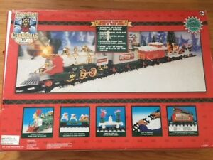 Christmas Toy Train-lights and christmas music (excellent shape)