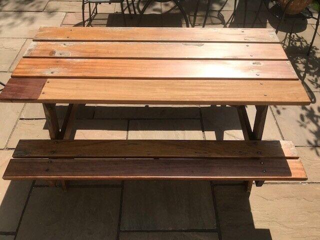 Brilliant Solid Iroko Garden Bench In Lasswade Midlothian Gumtree Ibusinesslaw Wood Chair Design Ideas Ibusinesslaworg