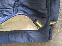 Sleeping bags: 2 singles, double and air bed