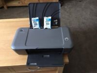 HP Deskjet 1000 Printer plus 2 unopened printer cartridges