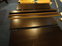 Ikea Malm double bed frame with slats included. dark brown.