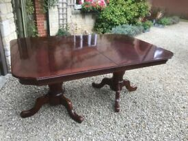 Amercian Lifestyle Dining Table and six (inc two carvers ) high back chairs