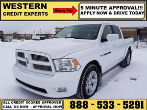 2011 Ram 1500 Sport 4x4 Crew 5.7L Hemi 5 Min Approval $215 B/W