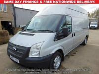 2012 62-REG FORD TRANSIT LWB, HIGH ROOF, GLEAMING FACTORY SILVER, AIR-CON,