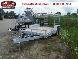 OLD STOCK CLEAR OUT - GALVANIZED 7 X 14' 5 TON EQUIPMENT TRAILER