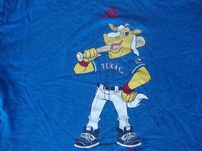 (MLB  TEXAS RANGERS BASEBALL Captain Mascot Adidas T Shirt YOUTH L)