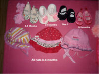 Baby Girl hats and shoes