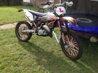 Ktm 125 road legal daytime only no lights and no docs just green slip