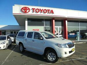2012 Toyota Hilux KUN26R MY12 SR (4x4) Glacier White 4 Speed Automatic Dual Cab Pick-up Belmore Canterbury Area Preview