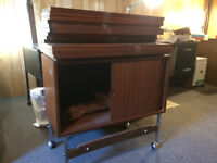 Vintage 1960s cabinet and shelving system