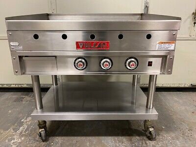 Vulcan 936a 36 Natural Gas Griddle W Ss Cart 90000 Btus Works Great