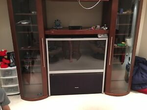 "51"" TV and Storage wall unit"