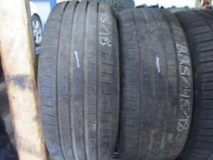 225/45R18 USED PIRELLI A/S TIRES