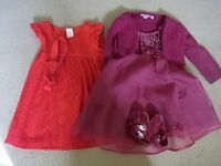 2 Girls Dresses 6-12 months