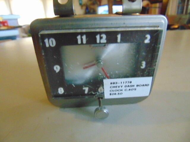 Vintage Westclox 1940's Chevrolet Dash Board Clock 83-11778