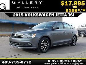 2015 Volkswagen Jetta TSI $109 bi-weekly APPLY NOW DRIVE NOW