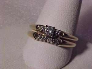 #3527-**NOT A MISTAKE**AFFORDABLE 14K Y/Gold WEDDING SET-Appraised $1,950.00 Yours for just $549.00. Fedex Free s/h