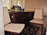 Table and chairs/Bedside cabinets