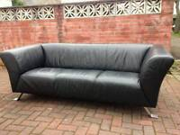 Leather designer sofa